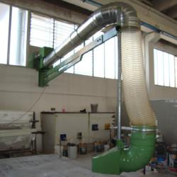 Impianto di aspirazione esalazione odori utilizzato in azienda lucidatura pietre2