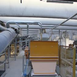 Impianto di aspirazione polveri dalla lavorazione del marmo